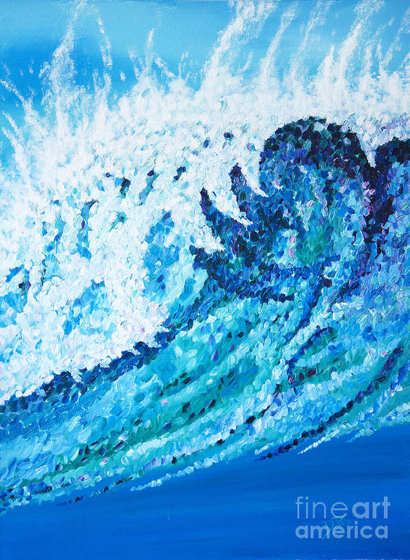 Ocean Art Print featuring the painting Watercolor by JoAnn DePolo