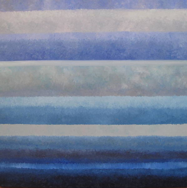 Abstract Art Print featuring the painting Blue by Ani Magai