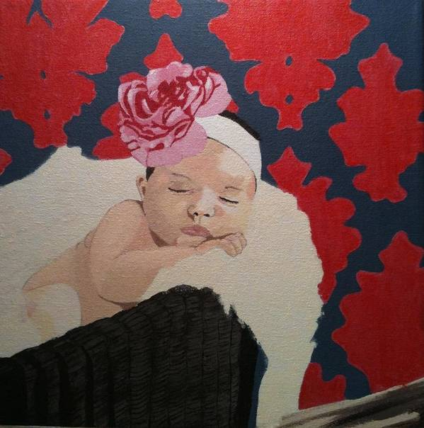 Baby Art Print featuring the painting Lillee by Chris Cargill