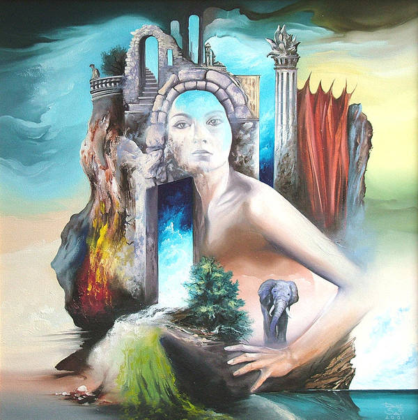 Art Print featuring the painting Enchanted Island by Zoltan Ducsai