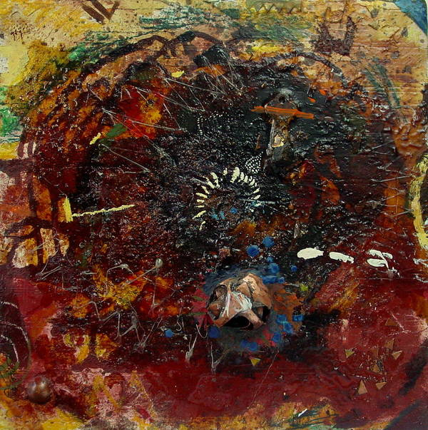 Contemporary African Art Art Print featuring the mixed media Eye 2 by Mohamed-saeed Omer