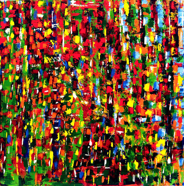 Caribbean Art Print featuring the painting Forest Clearing II by Sula Chance