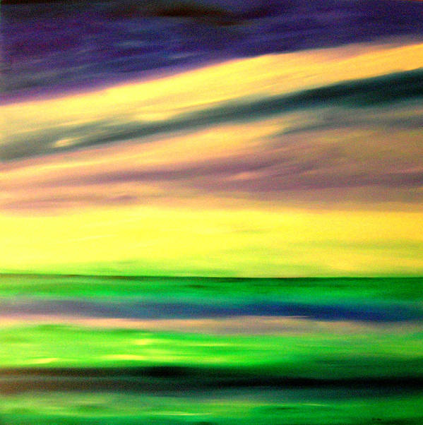 Caribbean Art Print featuring the painting Green Sea by Sula Chance