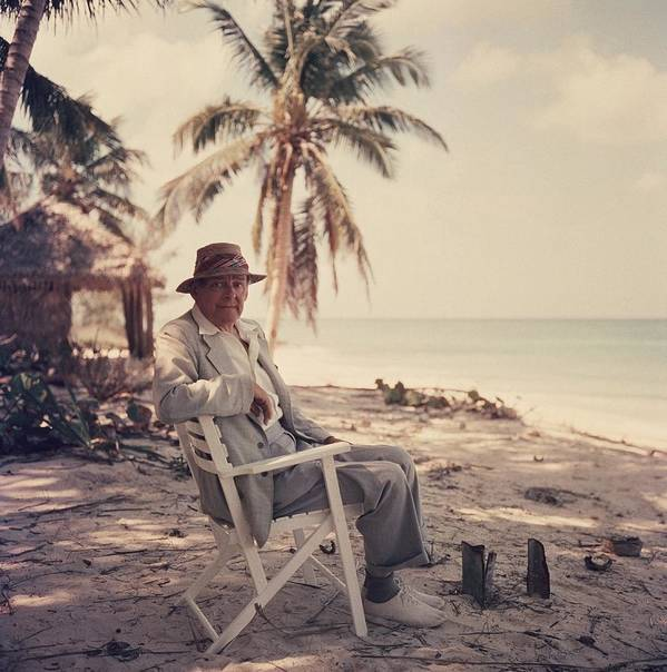 Straw Hat Art Print featuring the photograph Poets Paradise 1 by Slim Aarons