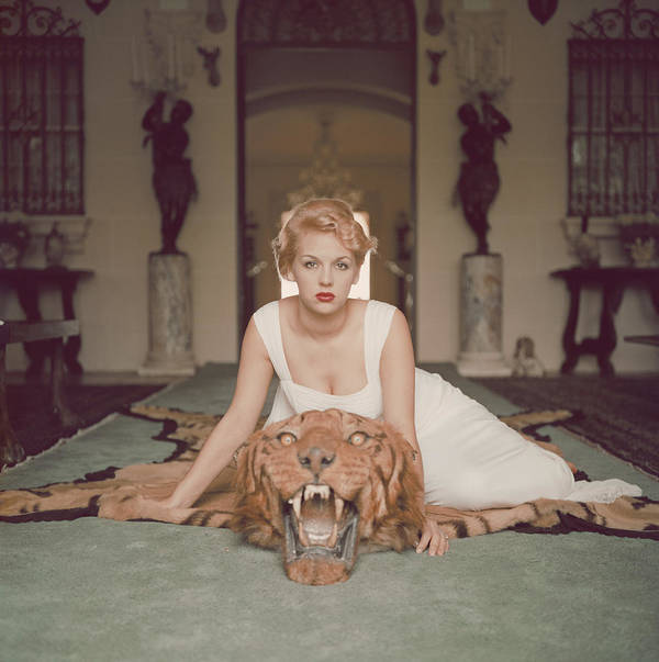 People Art Print featuring the photograph Beauty And The Beast by Slim Aarons