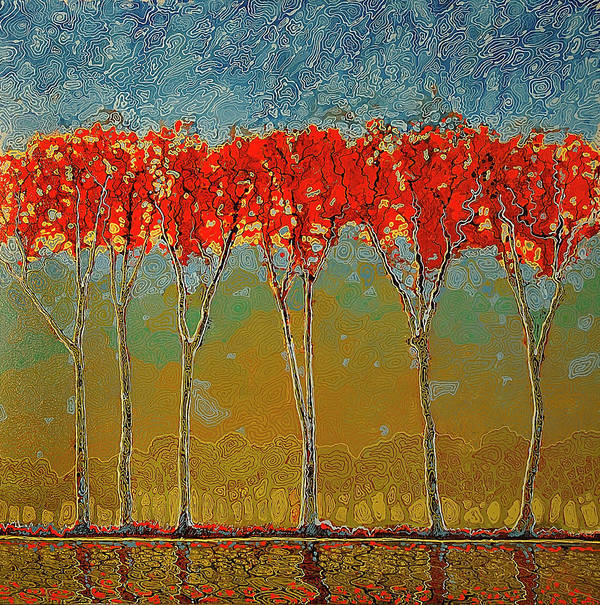 Ford Smith Art Print featuring the painting Electric Fall by Ford Smith