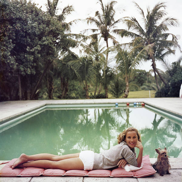 Pets Art Print featuring the photograph Having A Topping Time by Slim Aarons