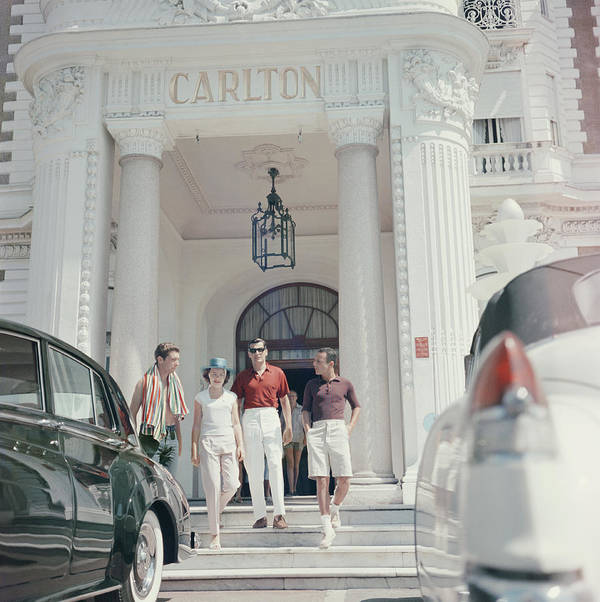 People Art Print featuring the photograph Staying At The Carlton by Slim Aarons