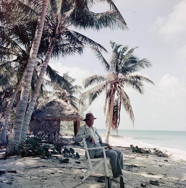 Beach Hut Art Print featuring the photograph T. S. Eliot by Slim Aarons