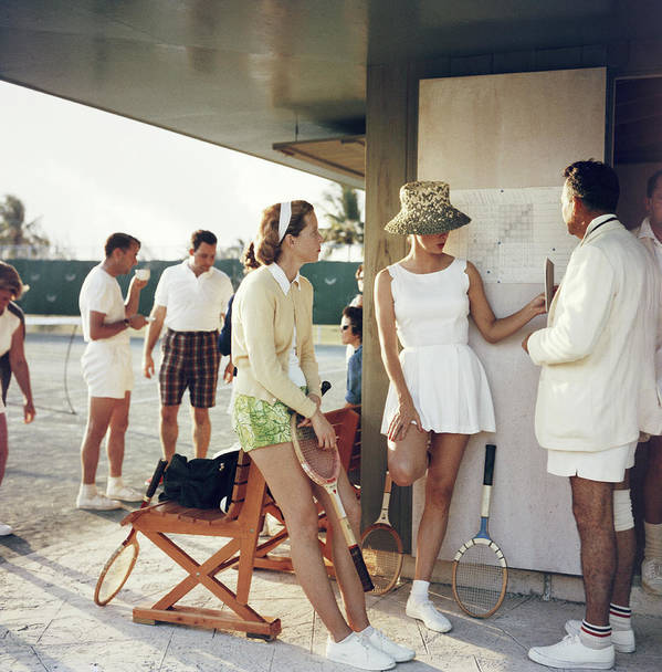 Tennis Art Print featuring the photograph Tennis In The Bahamas by Slim Aarons