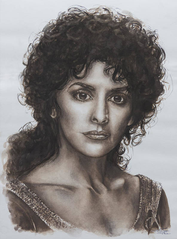 Star Trek Print featuring the painting counselor Deanna Troi Star Trek TNG by Giulia Riva