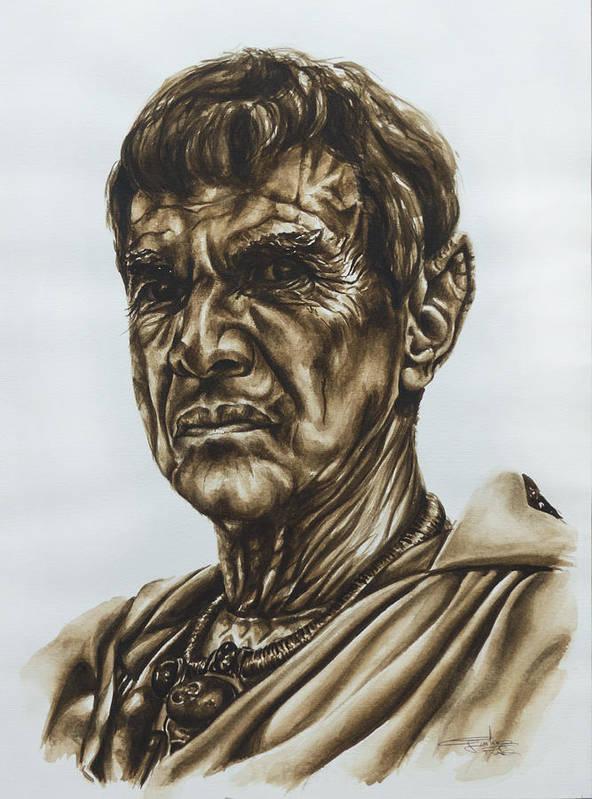 Star Trek Art Print featuring the painting Sarek Star Trek by Giulia Riva
