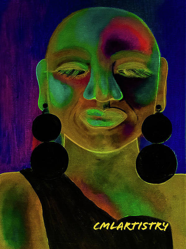 Woman Art Print featuring the digital art Boldly Me #1 by Carrine Lovelace