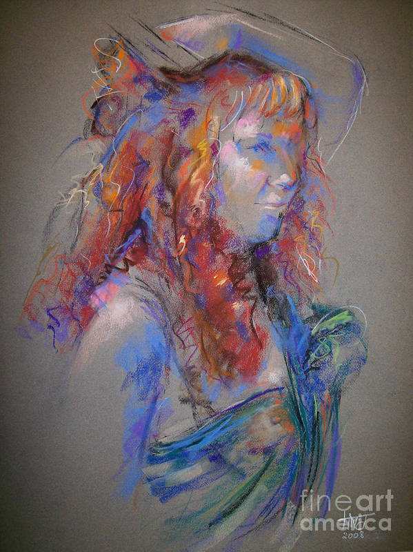 Figurative Art Print featuring the painting Emerald by Tina Siddiqui