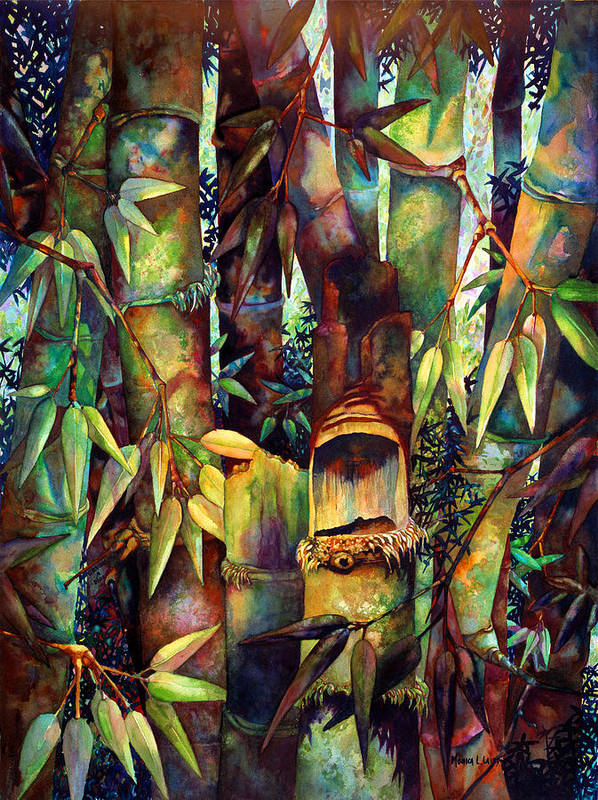 Bamboo Art Print featuring the painting The Sentry by Monica Linville