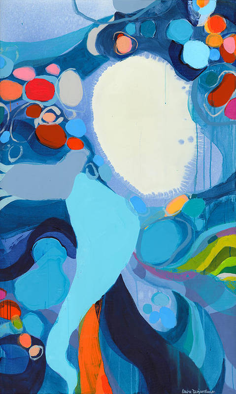 Abstract Art Print featuring the painting A Woman Named Emory by Claire Desjardins