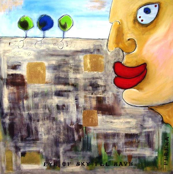 Contemporary Art Print featuring the painting The Look by Maarten Perera