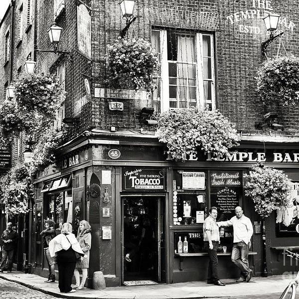 Vintage Temple Bar Days Dublin by John Rizzuto