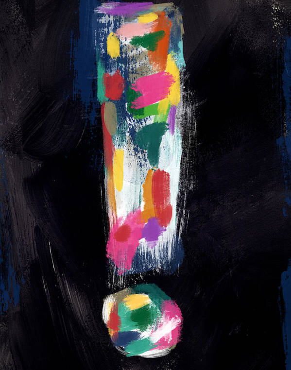 Colorful Exclamation Point- Art by Linda Woods by Linda Woods
