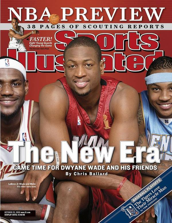 Magazine Cover Art Print featuring the photograph Miami Heat Dwyane Wade Sports Illustrated Cover by Sports Illustrated