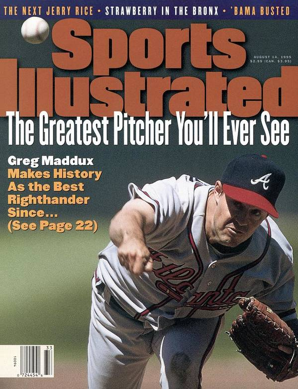 Candlestick Park Art Print featuring the photograph Atlanta Braves Greg Maddux... Sports Illustrated Cover by Sports Illustrated
