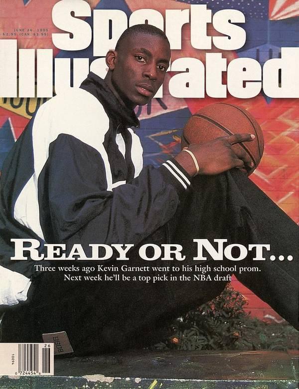 Magazine Cover Art Print featuring the photograph Farragut Career Academy Kevin Garnett, 1995 Nba Draft Sports Illustrated Cover by Sports Illustrated