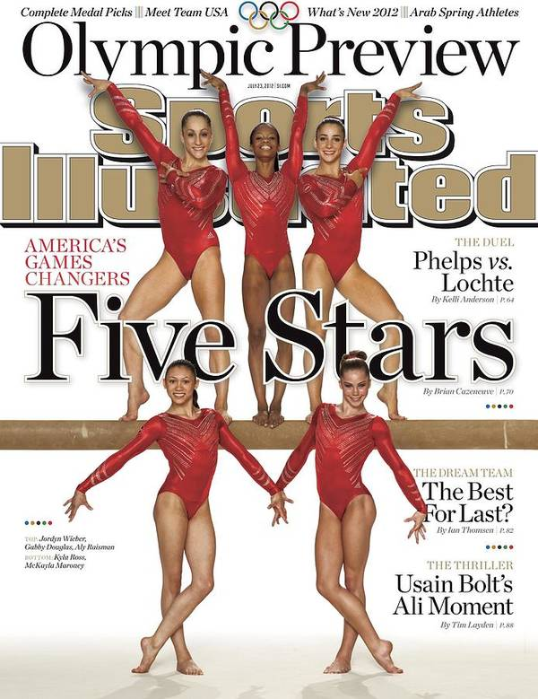 Magazine Cover Art Print featuring the photograph Five Stars 2012 London Olympic Games Preview Sports Illustrated Cover by Sports Illustrated