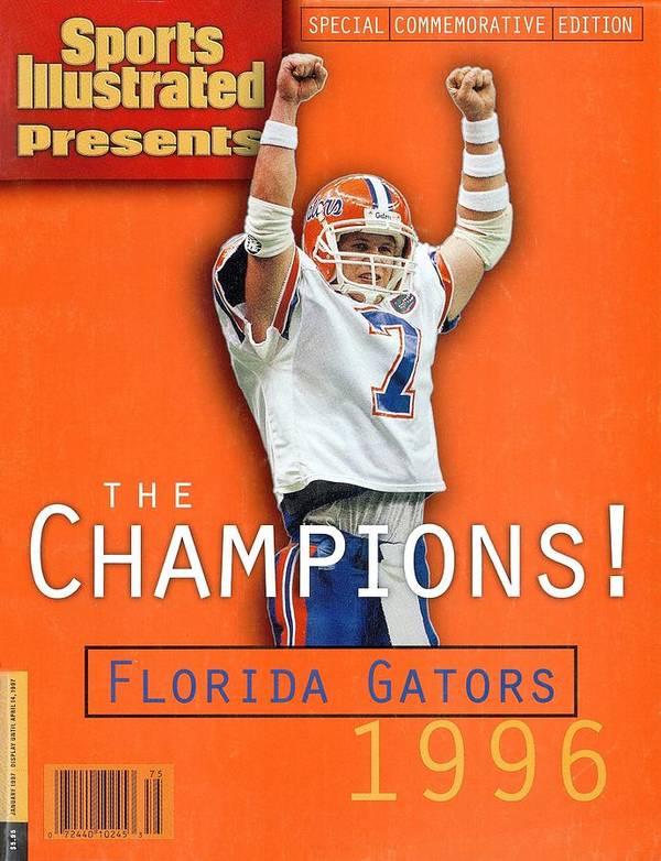 Magazine Cover Art Print featuring the photograph Florida Qb Danny Wuerffel, 1997 Sugar Bowl Sports Illustrated Cover by Sports Illustrated