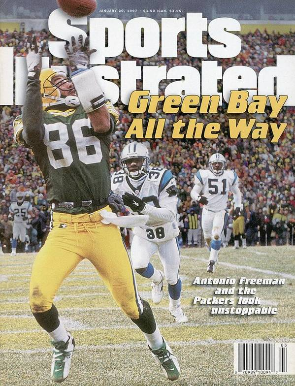 Magazine Cover Art Print featuring the photograph Green Bay Packers Antonio Freeman, 1997 Nfc Championship Sports Illustrated Cover by Sports Illustrated