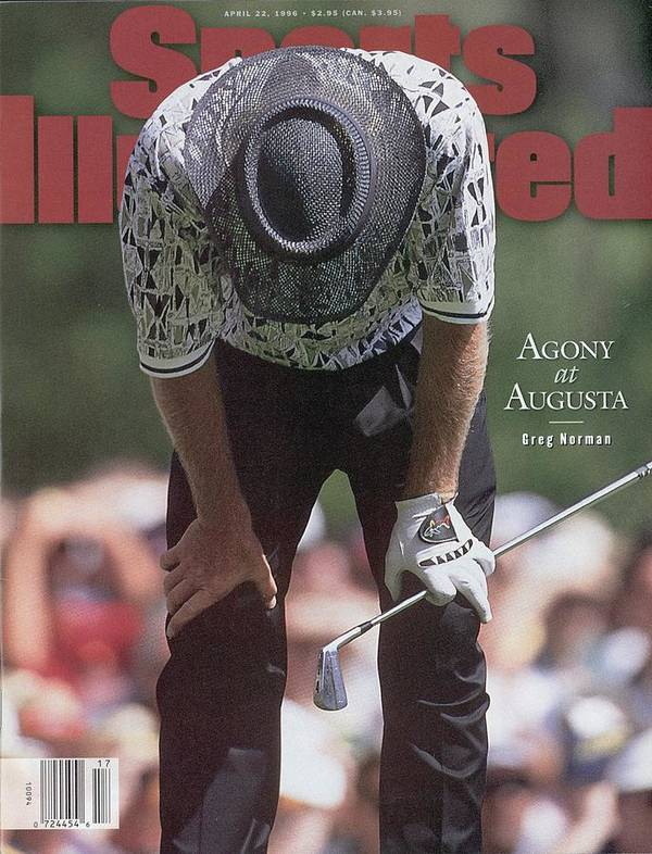 Magazine Cover Art Print featuring the photograph Greg Norman, 1996 Masters Sports Illustrated Cover by Sports Illustrated