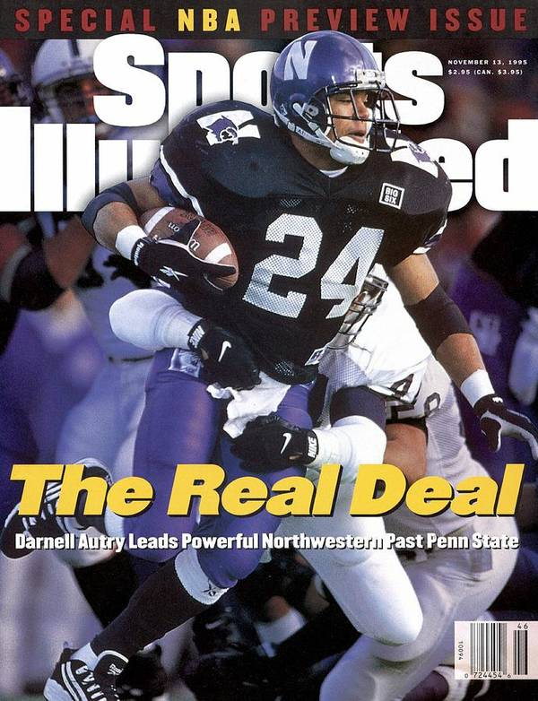 Magazine Cover Art Print featuring the photograph Northwestern University Darnell Autry Sports Illustrated Cover by Sports Illustrated