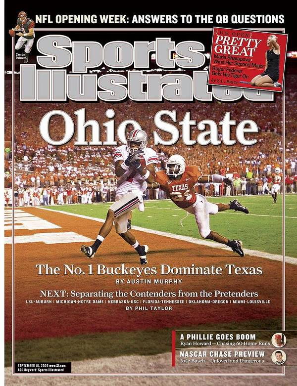 Magazine Cover Art Print featuring the photograph Ohio State Ted Ginn Jr... Sports Illustrated Cover by Sports Illustrated