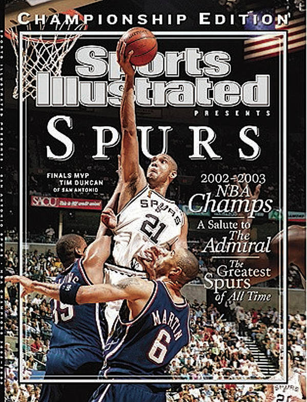 Kenyon Martin Art Print featuring the photograph San Antonio Spurs Tim Duncan, 2003 Nba Finals Sports Illustrated Cover by Sports Illustrated