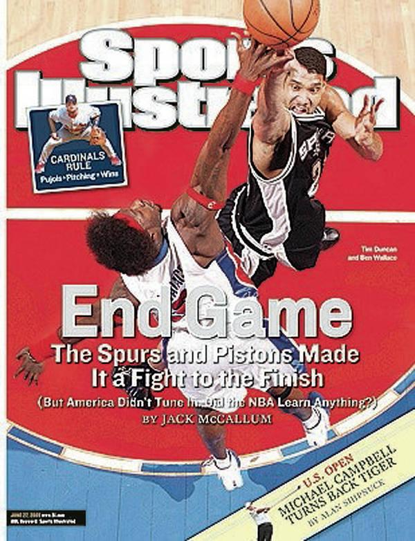 Magazine Cover Art Print featuring the photograph San Antonio Spurs Tim Duncan, 2005 Nba Finals Sports Illustrated Cover by Sports Illustrated