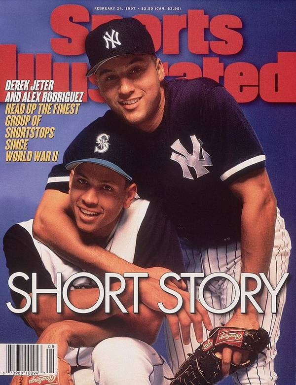 Magazine Cover Art Print featuring the photograph Seattle Mariners Alex Rodriguez And New York Yankees Derek Sports Illustrated Cover by Sports Illustrated