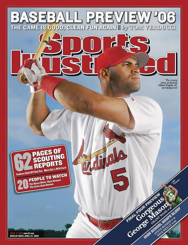 St. Louis Cardinals Art Print featuring the photograph St. Louis Cardinals Albert Pujols Sports Illustrated Cover by Sports Illustrated