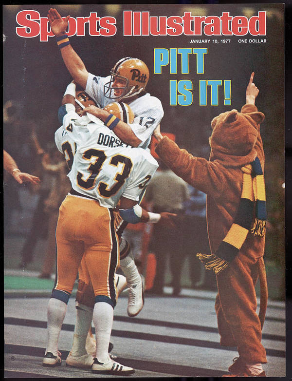 Magazine Cover Art Print featuring the photograph University Of Pittsburgh Qb Matt Cavanaugh, 1977 Sugar Bowl Sports Illustrated Cover by Sports Illustrated