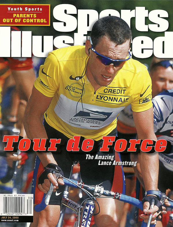 Magazine Cover Art Print featuring the photograph Us Postal Service Team Lance Armstrong, 2000 Tour De France Sports Illustrated Cover by Sports Illustrated