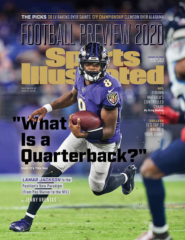 Sports Illustrated Art Print featuring the photograph 2020 Football Preview Sports Illustrated Cover by Sports Illustrated
