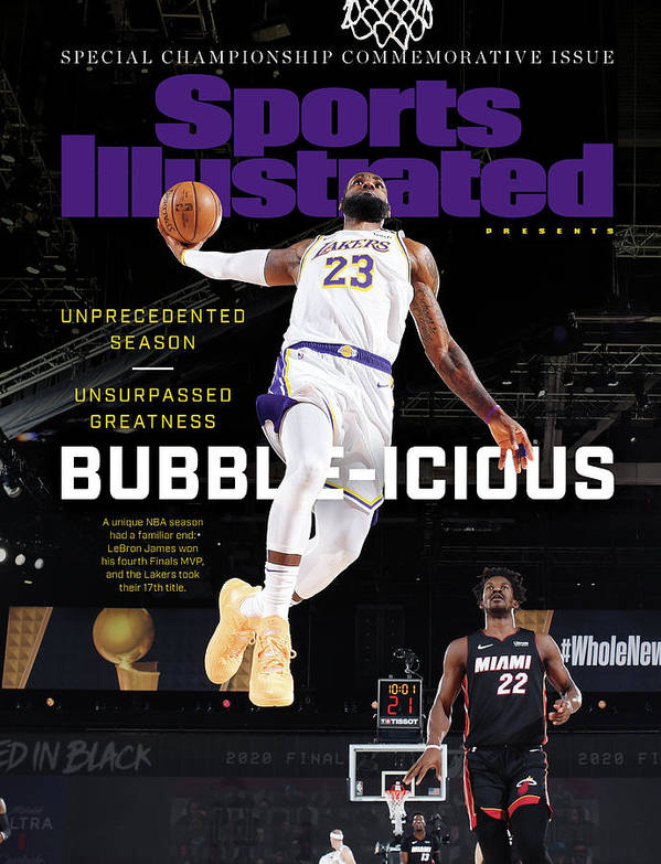 Nba Art Print featuring the photograph Bubble-icious Los Angeles Lakers NBA Championship Sports Illustrated Cover by Sports Illustrated