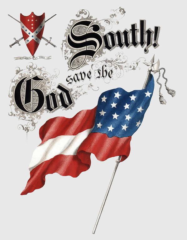 GOD SAVE the SOUTH 1863 - CIVIL WAR - T-SHIRT by Daniel Hagerman