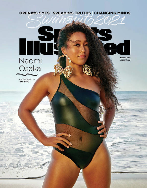 2021 Swimsuit Issue Art Print featuring the photograph Naomi Osaka Sports Illustrated Swimsuit 2021 cover by Sports Illustrated