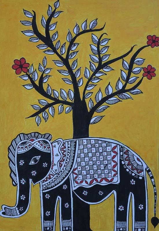Madhubani Elephant by Nilima Kalantri