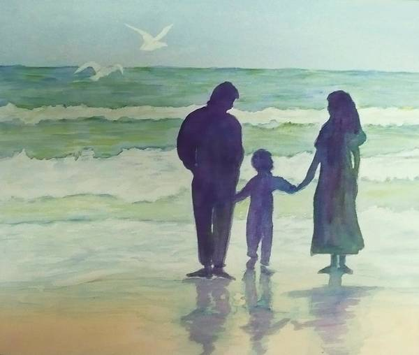 Ocean Art Print featuring the painting Focus On The Wonder by Deva Claridge
