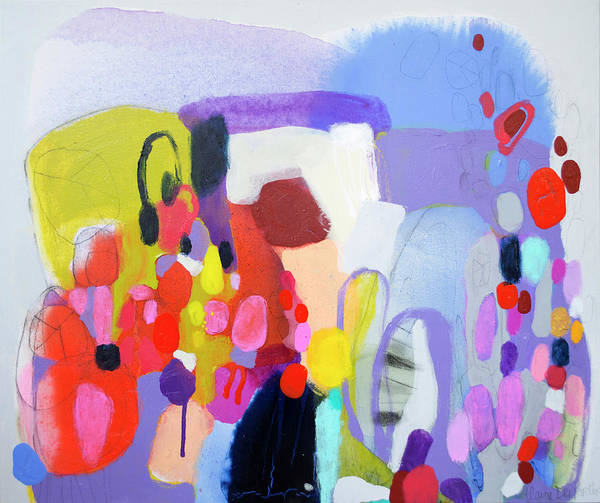 Abstract Art Print featuring the painting On My Mind by Claire Desjardins