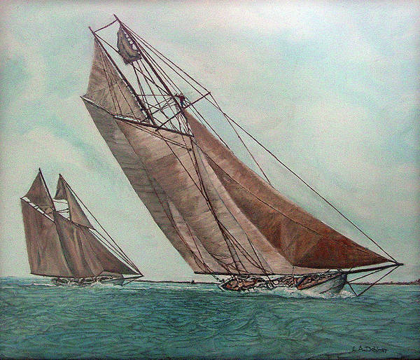 Massachusetts Art Print featuring the painting Ingomar And Elmina by Laurence Dahlmer