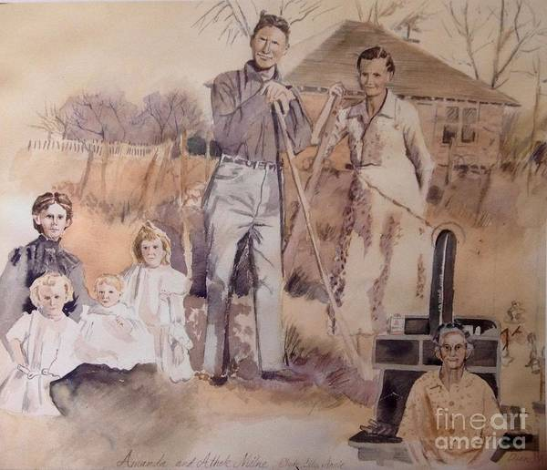 Vintage Art Print featuring the painting Amanda And Athole Milne Collage by Diane Renchler