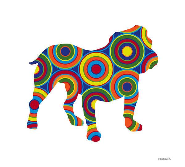 Animals Art Print featuring the digital art Bulldog by Ron Magnes