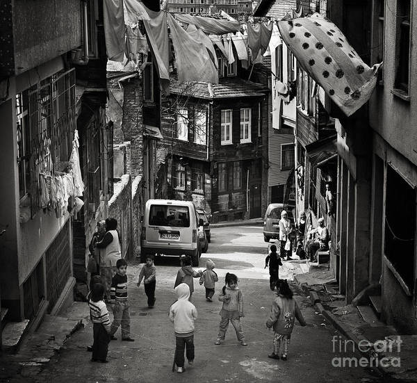 Istanbul Art Print featuring the photograph No Nintendo For Them by Michel Verhoef