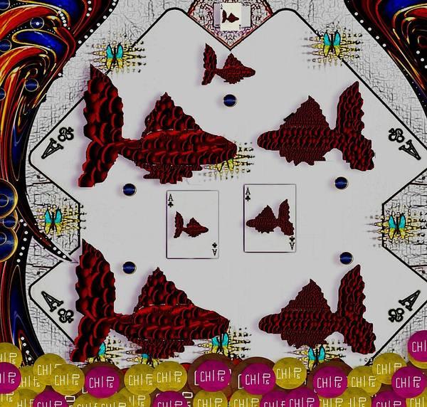 Poker Art Print featuring the mixed media Poker Art by Pepita Selles